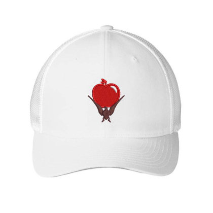 Red Apple Embroidered Hat Embroidered Mesh Cap Designed By Madhatter