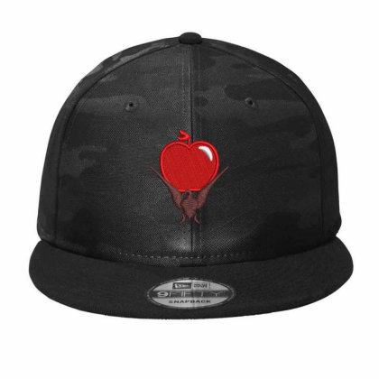 Red Apple Embroidered Hat Camo Snapback Designed By Madhatter