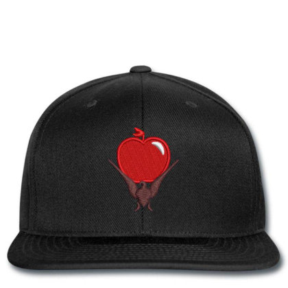 Red Apple Embroidered Hat Snapback Designed By Madhatter
