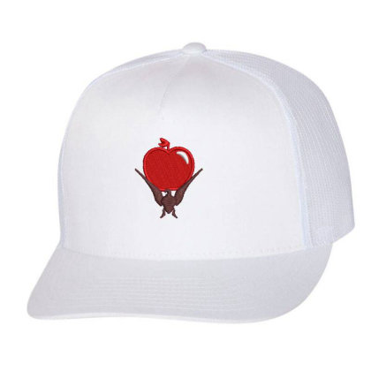 Red Apple Embroidered Hat Trucker Cap Designed By Madhatter