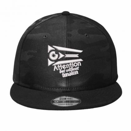 Attention But Without Tension Camo Snapback Designed By Madhatter