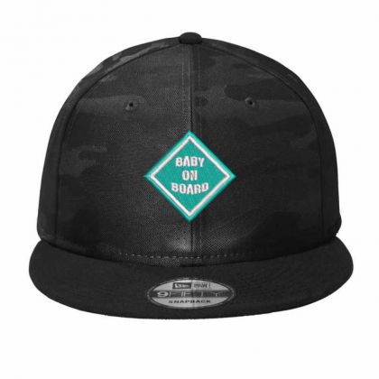 Baby On Board Camo Snapback Designed By Madhatter