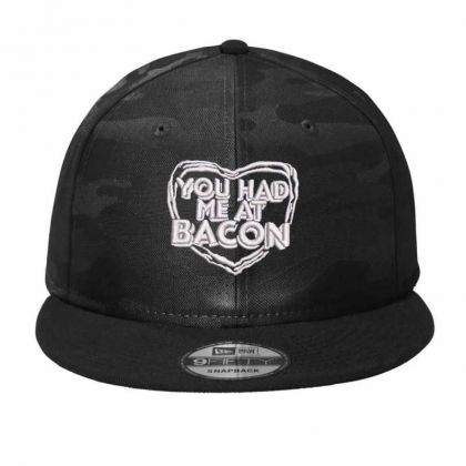 You Had Me At Bacon Camo Snapback Designed By Madhatter