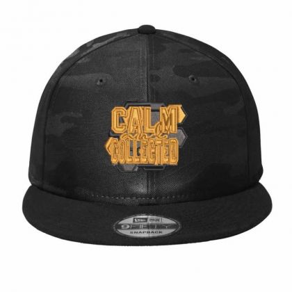 Calm Collected Camo Snapback Designed By Madhatter