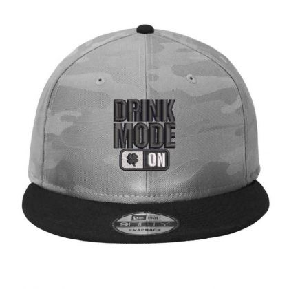 Drink Mood On Camo Snapback Designed By Madhatter