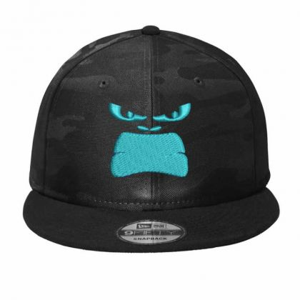 Angry Face Camo Snapback Designed By Madhatter