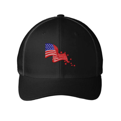 America Flag Embroidered Hat Embroidered Mesh Cap Designed By Madhatter