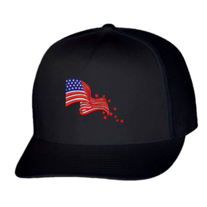America Flag Embroidered Hat Trucker Cap Designed By Madhatter