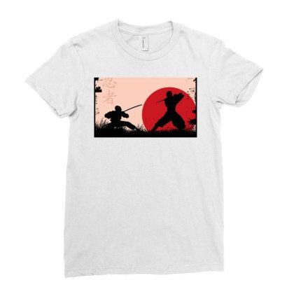 Ninja Art Ladies Fitted T-shirt Designed By Ninja Art