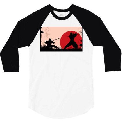 Ninja Art 3/4 Sleeve Shirt Designed By Ninja Art
