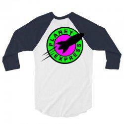 planet-express-green-kamo 3/4 Sleeve Shirt | Artistshot