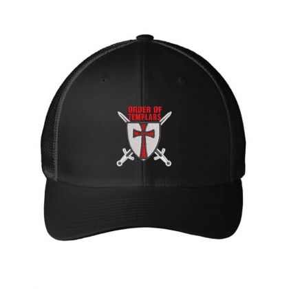 Order Of Templars Embroidered Hat Embroidered Mesh Cap Designed By Madhatter
