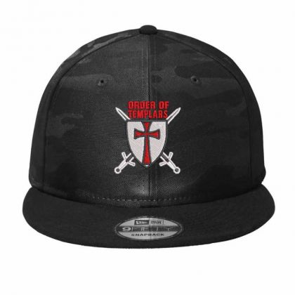 Order Of Templars Embroidered Hat Camo Snapback Designed By Madhatter