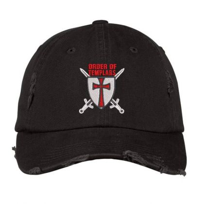 Order Of Templars Embroidered Hat Distressed Cap Designed By Madhatter