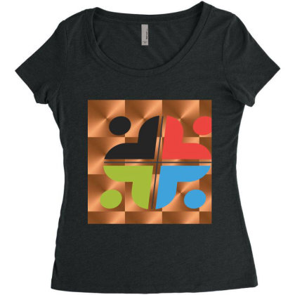 All New For Everyone Women's Triblend Scoop T-shirt Designed By Sunil Kumar