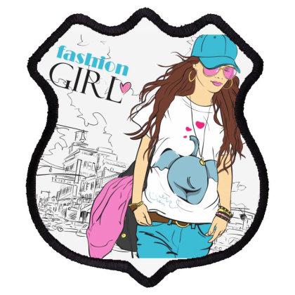 Fashion Girl Shield Patch Designed By Estore