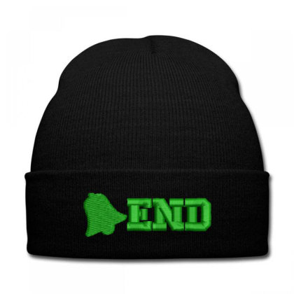 End Embroidered Hat Knit Cap Designed By Madhatter