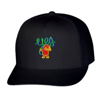Yes Or Eyes Embroidered Hat Trucker Cap Designed By Madhatter