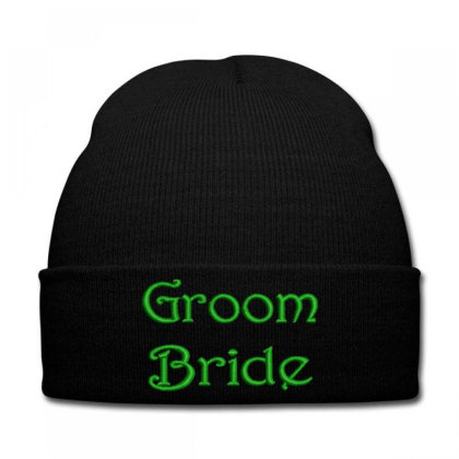 Groom Bride Embroidered Hat Knit Cap Designed By Madhatter