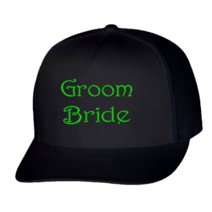 Groom Bride Embroidered Hat Trucker Cap Designed By Madhatter