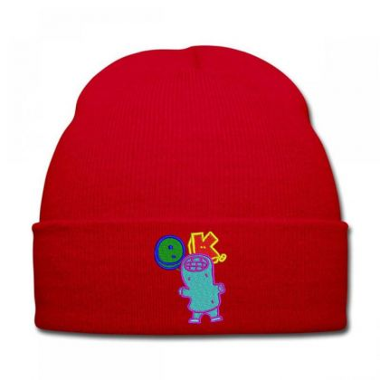 Okay World Embroidered Hat Knit Cap Designed By Madhatter