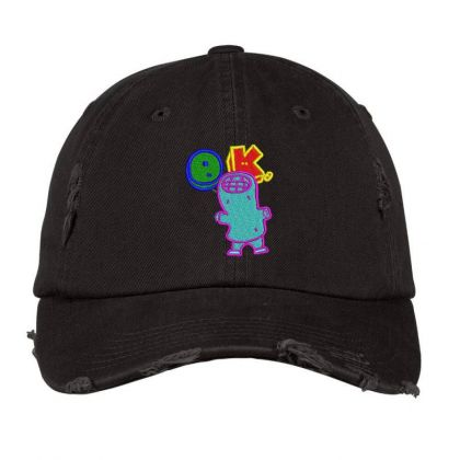Okay World Embroidered Hat Distressed Cap Designed By Madhatter