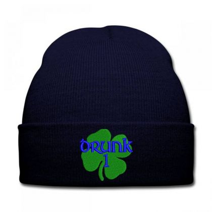 Drunk Irish Embroidered Hat Knit Cap Designed By Madhatter