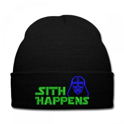 Sith Happens Embroidered Hat Knit Cap Designed By Madhatter