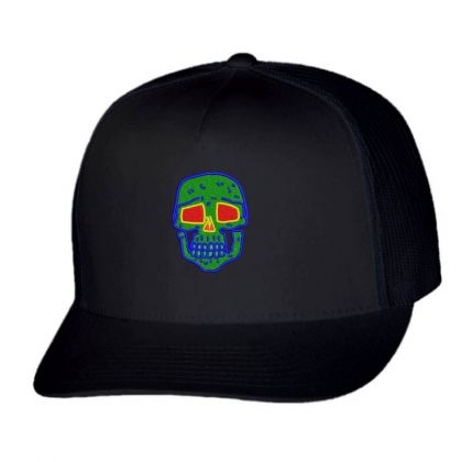 Skull Embroidered Hat Trucker Cap Designed By Madhatter