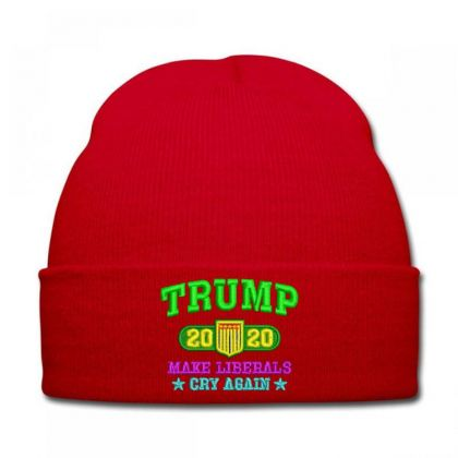 Trump 2020 Embroidered Hat Knit Cap Designed By Madhatter