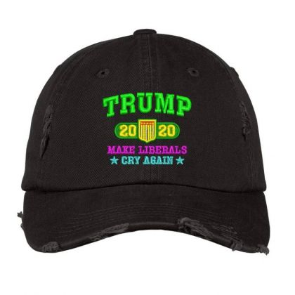 Trump 2020 Embroidered Hat Distressed Cap Designed By Madhatter