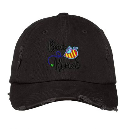 Bee King Embroidered Hat Distressed Cap Designed By Madhatter