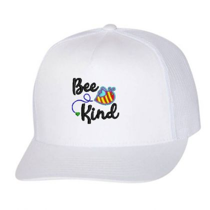 Bee King Embroidered Hat Trucker Cap Designed By Madhatter