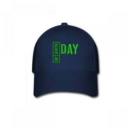 58 Birthday Embroidered Hat Baseball Cap Designed By Madhatter