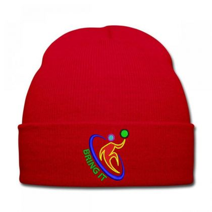 Bring It Embroidered Hat Knit Cap Designed By Madhatter