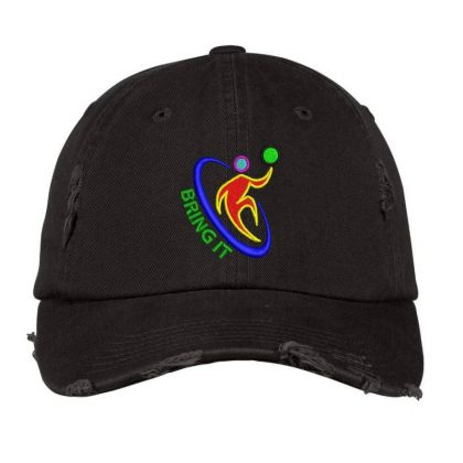Bring It Embroidered Hat Distressed Cap Designed By Madhatter
