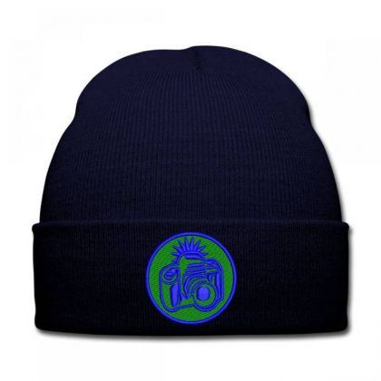 Camera Embroidered Hat Knit Cap Designed By Madhatter