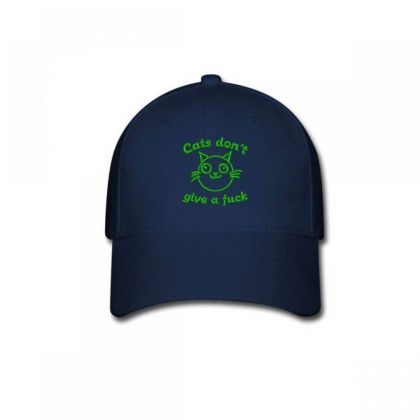 Cats Don't Give A Fuck Embroidered Hat Baseball Cap Designed By Madhatter