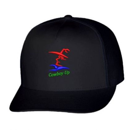 Cowboy Embroidered Hat Trucker Cap Designed By Madhatter