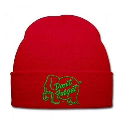 Don't Forget Embroidered Hat Knit Cap Designed By Madhatter