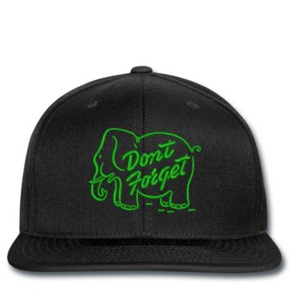 Don't Forget Embroidered Hat Snapback Designed By Madhatter