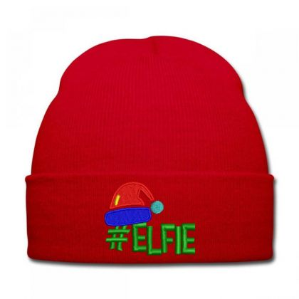 #elfie Embroidered Hat Knit Cap Designed By Madhatter