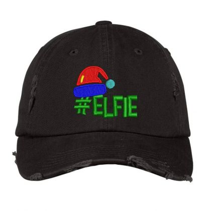 #elfie Embroidered Hat Distressed Cap Designed By Madhatter