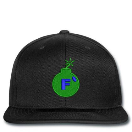 F * Embroidered Hat Snapback Designed By Madhatter