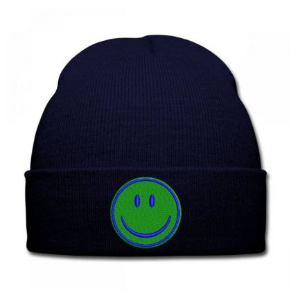 Smiley Face Embroidered Hat Knit Cap Designed By Madhatter