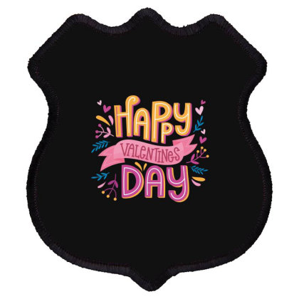 Happy Valentines Day Shield Patch Designed By Estore
