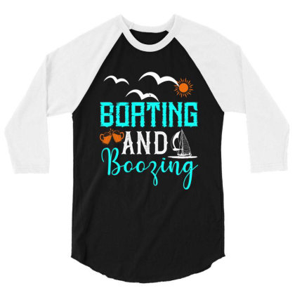 Boating And Boozing Shirt 3/4 Sleeve Shirt Designed By Faical