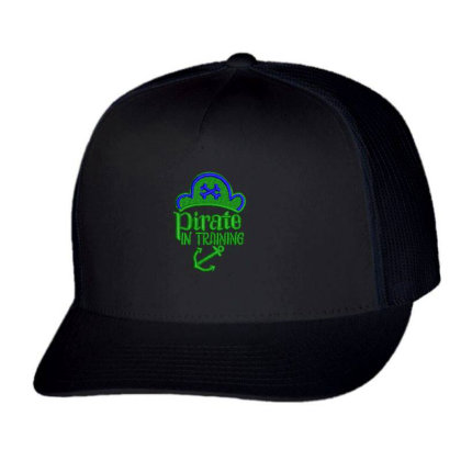 Pirate In Training Embroidered Hat Trucker Cap Designed By Madhatter