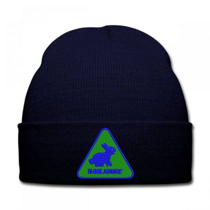 Run Away Embroidered Hat Knit Cap Designed By Madhatter