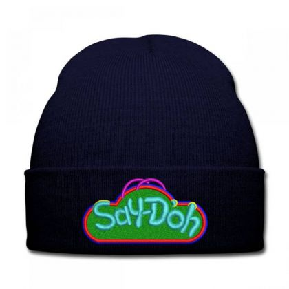 Say-doh Embroidered Hat Knit Cap Designed By Madhatter